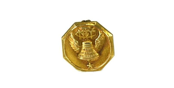 NY Telephone Company 14k Gold Top Employee Service Pin c1915 - Premier Estate Gallery