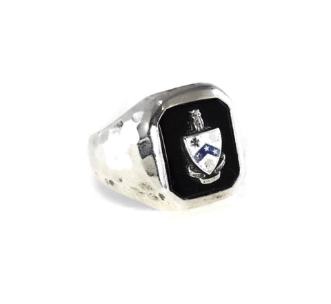 Antique Fiji Phi Gamma Delta Silver Enamel Ring c1910 - Premier Estate Gallery