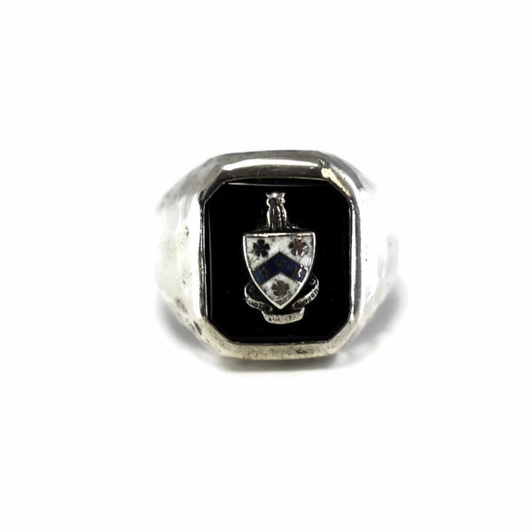 Antique Fiji Phi Gamma Delta Silver Enamel Ring c1910 - Premier Estate Gallery 1