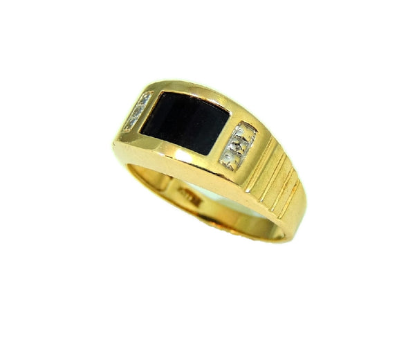 10k Gold Onxy Men's Ring Contemporary Vintage - Premier Estate Gallery  - 4