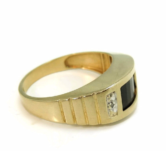 10k Gold Onxy Men's Ring Contemporary Vintage - Premier Estate Gallery  - 3