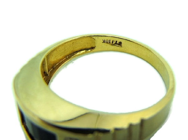 10k Gold Onxy Men's Ring Contemporary Vintage - Premier Estate Gallery  - 5