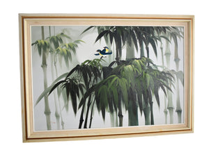 1960s Tropical Palm Trees Oil Painting Large 41X29 Signed Coastal Decor - Premier Estate Gallery
