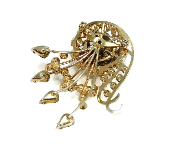 Purple Rhinestone Glamour Spray Brooch Vintage - Premier Estate Gallery  - 4