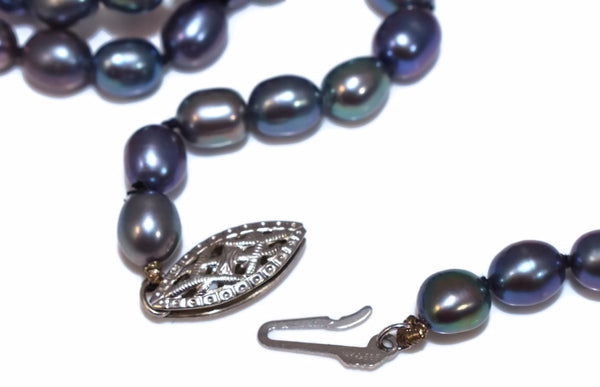 Vintage Freshwater Peacock Pearl Necklace Rope Length 38 Inches 14k Clasp - Premier Estate Gallery 3