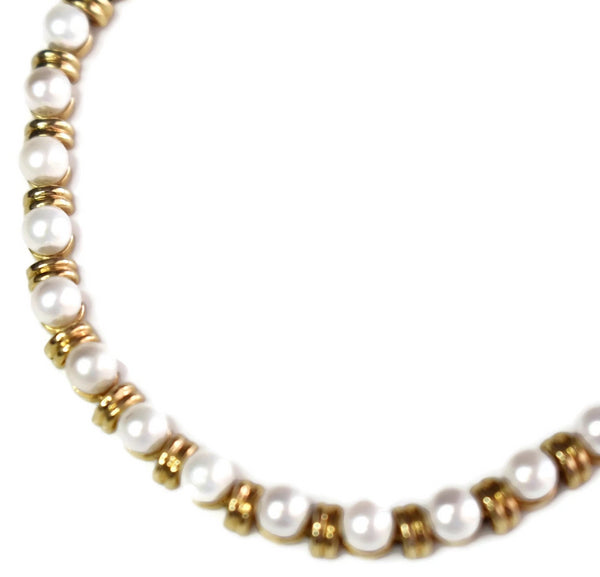 Estate 14k Pearl Gold Link Bracelet 9 grams - Premier Estate Gallery 3