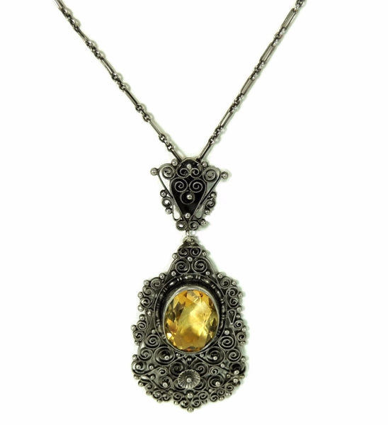 Nouveau Peruzzi Sterling Gemstone Necklace