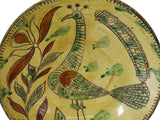 Folk Art Style Redware Sgraffito Bird Plate Met Museum Repro 18th Cent - Premier Estate Gallery 1