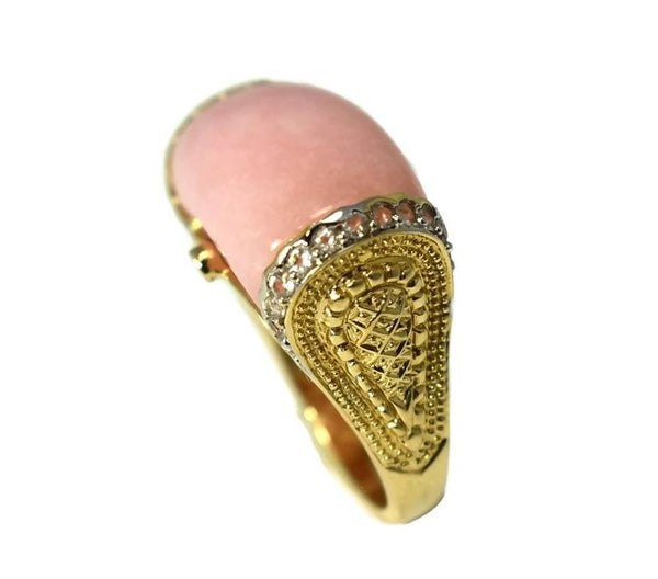 14k Pink Peruvian Opal Etruscan Style Ring - Premier Estate Gallery 4