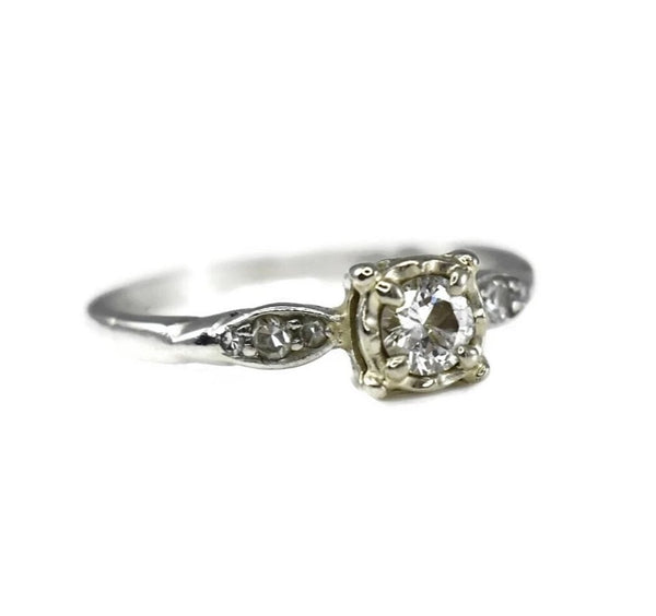 Art Deco Diamond Engagement Ring Platinum - Premier Estate Gallery