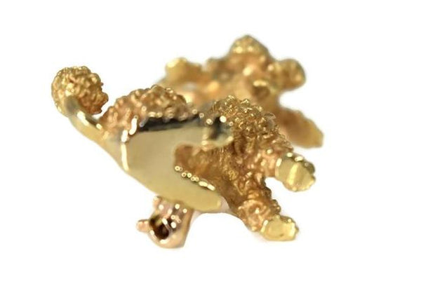 Estate 14k Gold Poodle Brooch Ruby Eyes c1960