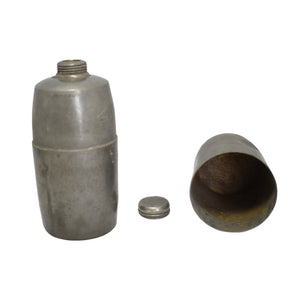 19th Century G & JW Hawksley Hip Flask Canteen w Cup Military Civil War Era Pewter - Premier Estate Gallery 2