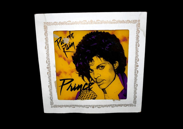 Prince Purple Rain 1980s Carnival Prize Mirror - Premier Estate Gallery