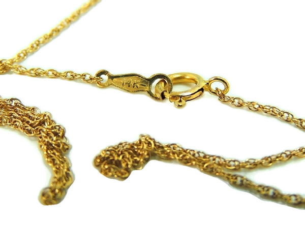 14k Heart Charm Necklace Contemporary Vintage Puffy Gold Heart - Premier Estate Gallery  - 3