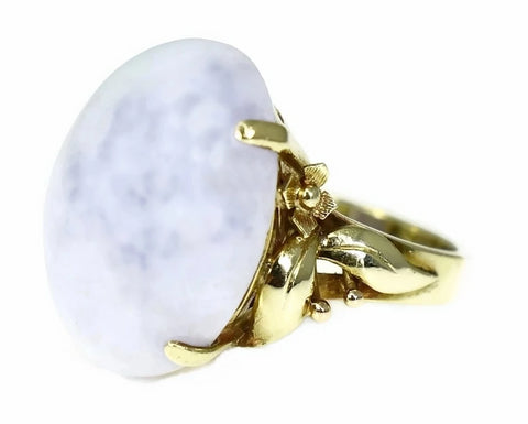 14k Gold Purple Jadeite Ring Ornate - Premier Estate Gallery 1