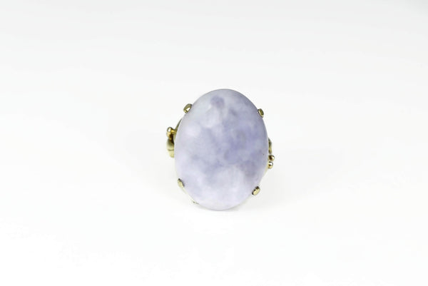 14k Gold Purple Jadeite Ring Ornate - Premier Estate Gallery 2