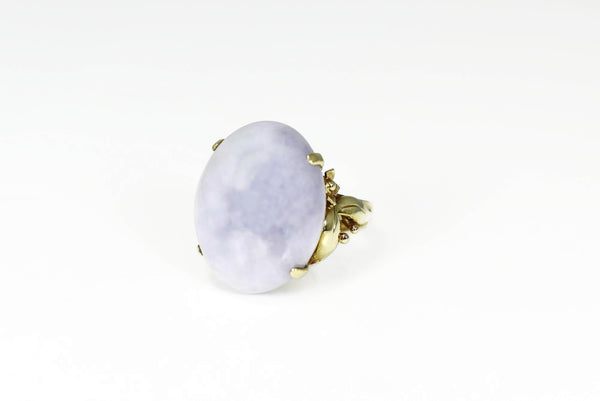 14k Gold Purple Jadeite Ring Ornate - Premier Estate Gallery 3