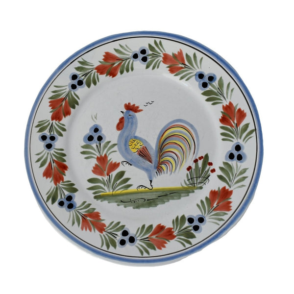 French Faience Henriot Quimper Le Coq Breton Rooster Plates Set of 3 - Premier Estate Gallery 1