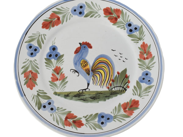 French Faience Henriot Quimper Le Coq Breton Rooster Plates Set of 3 - Premier Estate Gallery 2