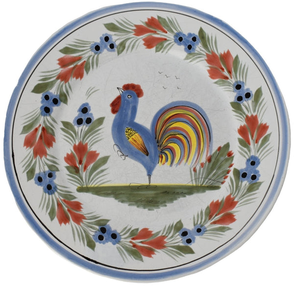 French Faience Henriot Quimper Le Coq Breton Rooster Plates Set of 3 - Premier Estate Gallery 3