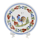 Farmhouse Decor Quimper Rooster Dessert Plates Hand Painted France Artist Signed - Premier Estate Gallery 1