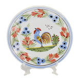Farmhouse Decor Quimper Rooster Dessert Plates Hand Painted France Artist Signed - Premier Estate Gallery 2