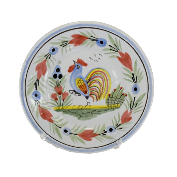 Farmhouse Decor Quimper Rooster Plates Le Coq Breton - Premier Estate Gallery 1