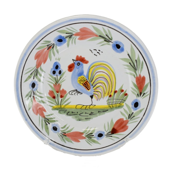 Farmhouse Decor Quimper Rooster Plates Le Coq Breton - Premier Estate Gallery 2