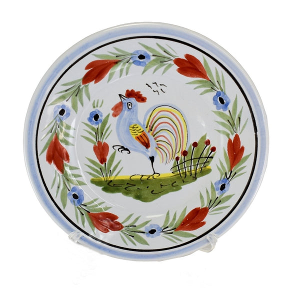 Vintage Quimper Faience Rooster Plates X2 Artist Signed  - Premier Estate Gallery 2