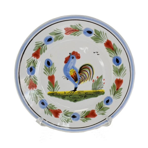 HB Quimper Rooster Le Coq Breton 6.5 inch Plates X2 Farmhouse Decor - Premier Estate Gallery 3