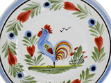Quimper Hand Painted Rooster Bread Plate Artist Signed France - Premier Estate Gallery 1