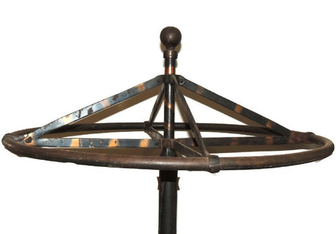 Antique Industrial Garment Rolling Rack Store Display c1910 Oxidized Copper - Premier Estate Gallery  - 1