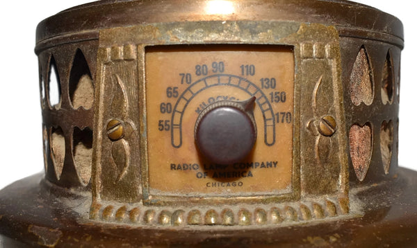 Vintage Brass Radio Table Lamp c1930s, Working Radio Lamp Needs TLC - Premier Estate Gallery 2