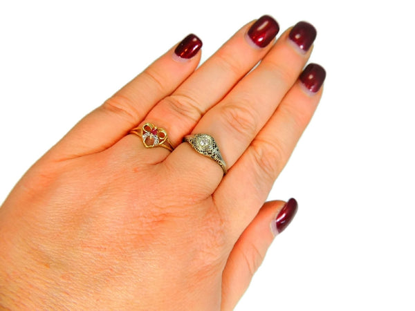 10k Ruby Heart Ring, Promise Ring, Granddaughter Gift, Gemstone Jewelry - Premier Estate Gallery  - 5