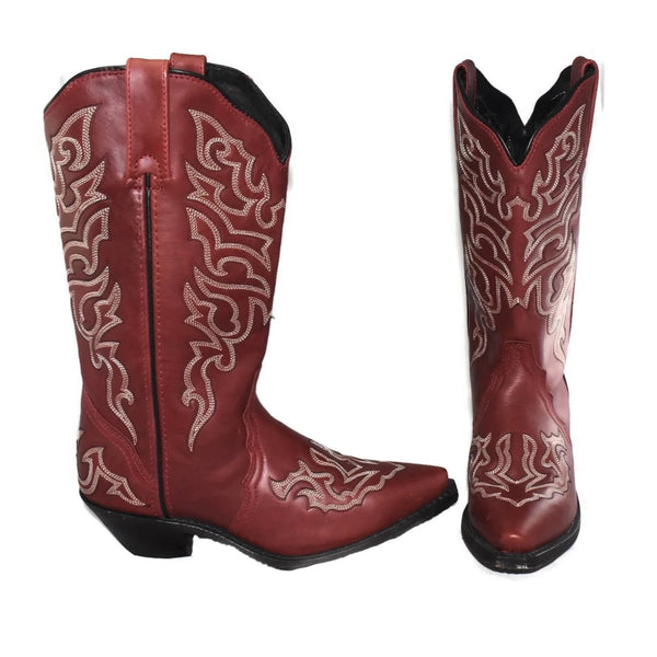 Rockin' Country Brick Red Cowboy Boots Sz 7.5 Women's - Premier Estate Gallery