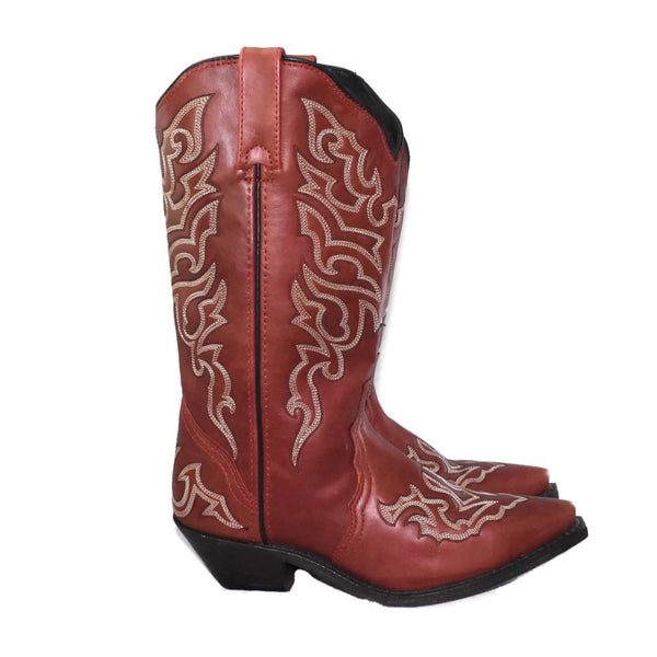 Rockin' Country Brick Red Cowboy Boots Sz 7.5 Women's - Premier Estate Gallery 1