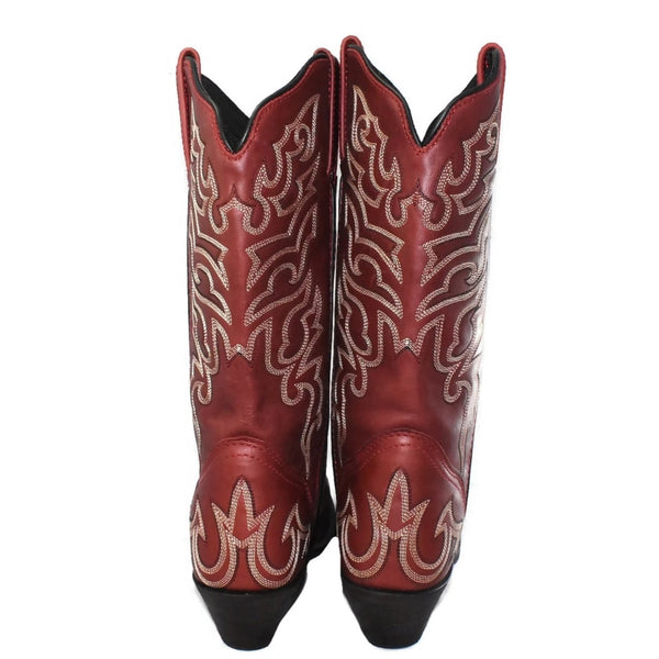 Rockin' Country Brick Red Cowboy Boots Sz 7.5 Women's - Premier Estate Gallery 2
