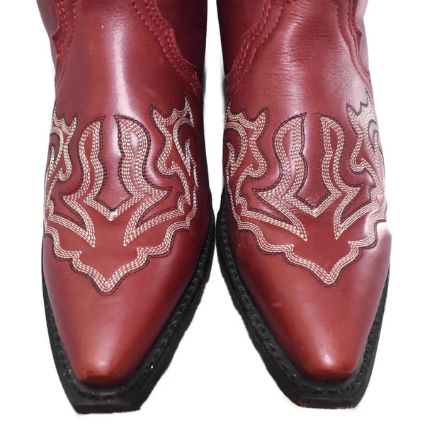 Rockin' Country Brick Red Cowboy Boots Sz 7.5 Women's - Premier Estate Gallery 3