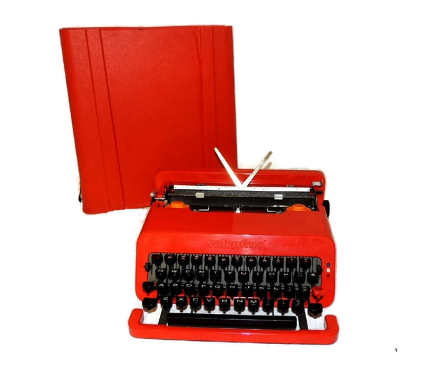 "1969 Olivetti  Red ""Valentine"" Portable Typewriter Italian Design Vintage - Premier Estate Gallery  - 2"