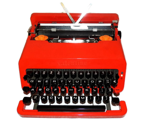 "1969 Olivetti  Red ""Valentine"" Portable Typewriter Italian Design Vintage - Premier Estate Gallery  - 1"