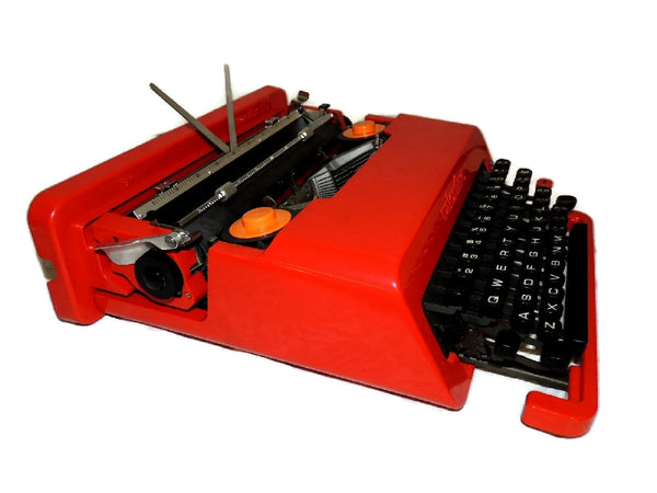"1969 Olivetti  Red ""Valentine"" Portable Typewriter Italian Design Vintage - Premier Estate Gallery  - 3"