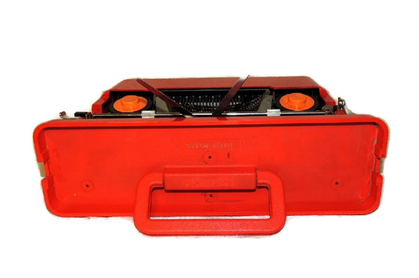 "1969 Olivetti  Red ""Valentine"" Portable Typewriter Italian Design Vintage - Premier Estate Gallery  - 6"