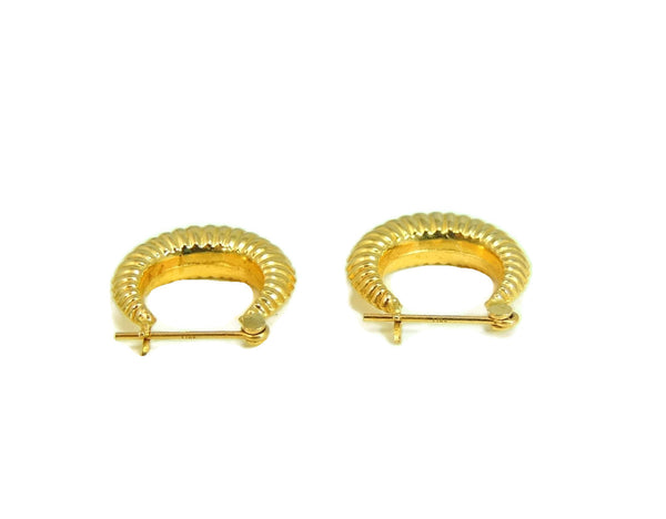 Gold Hoop Earrings 14k Gold Vintage