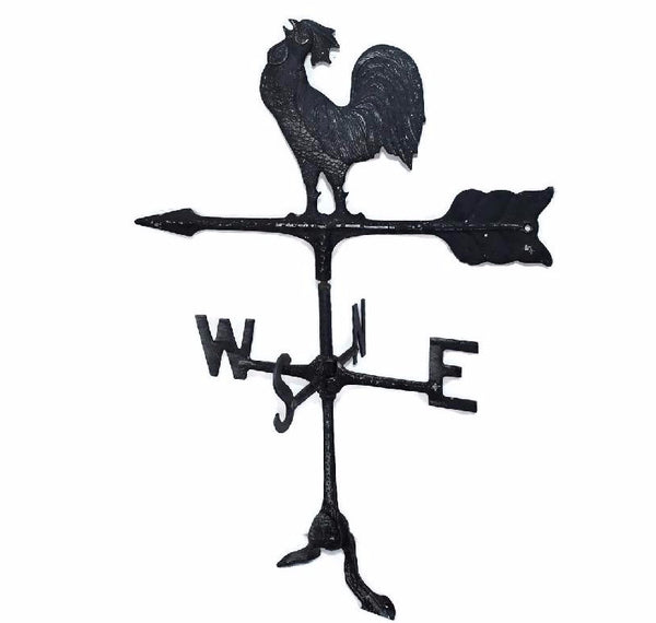Wrought Iron Vintage Rooster Weather Vane Americana Outdoor Decor - Premier Estate Gallery