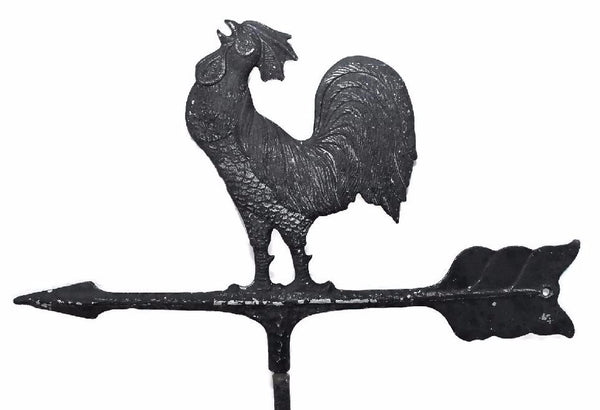 Wrought Iron Vintage Rooster Weather Vane Americana Outdoor Decor - Premier Estate Gallery 2