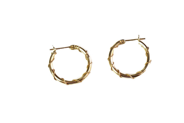 14k Gold Wire Wrapped Hoop Earrings - Premier Estate Gallery 1