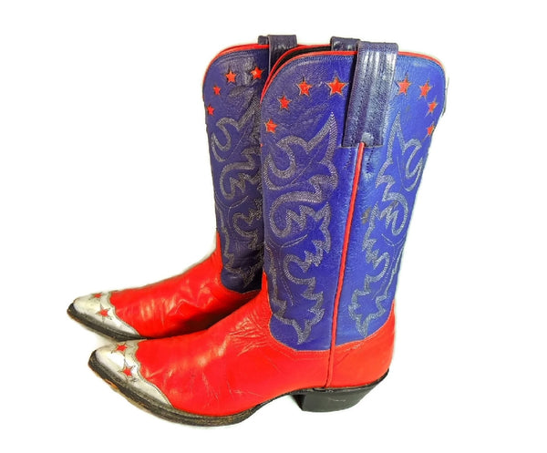 Vintage Americana Cowboy Boots Womens Silver Stars - Premier Estate Gallery  - 2
