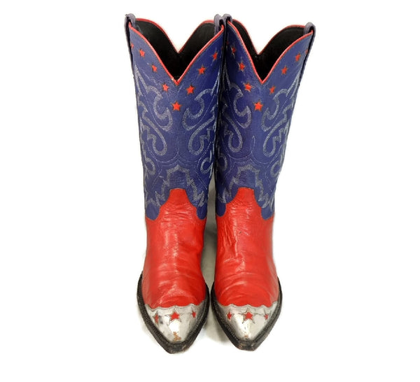 Vintage Americana Cowboy Boots Womens Silver Stars - Premier Estate Gallery  - 3