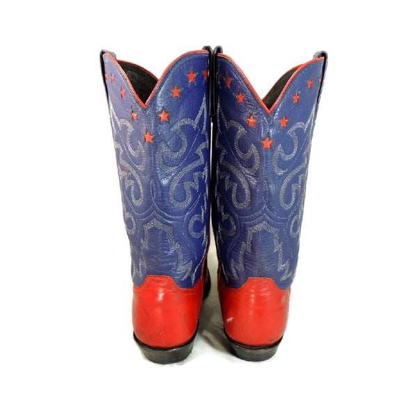 Vintage Americana Cowboy Boots Womens Silver Stars - Premier Estate Gallery  - 4