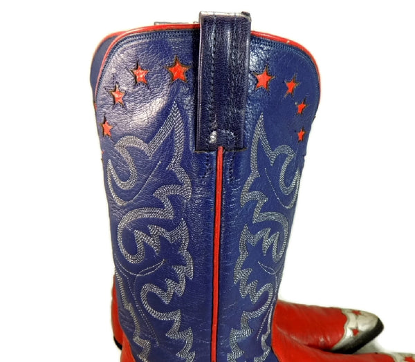 Vintage Americana Cowboy Boots Womens Silver Stars - Premier Estate Gallery  - 5